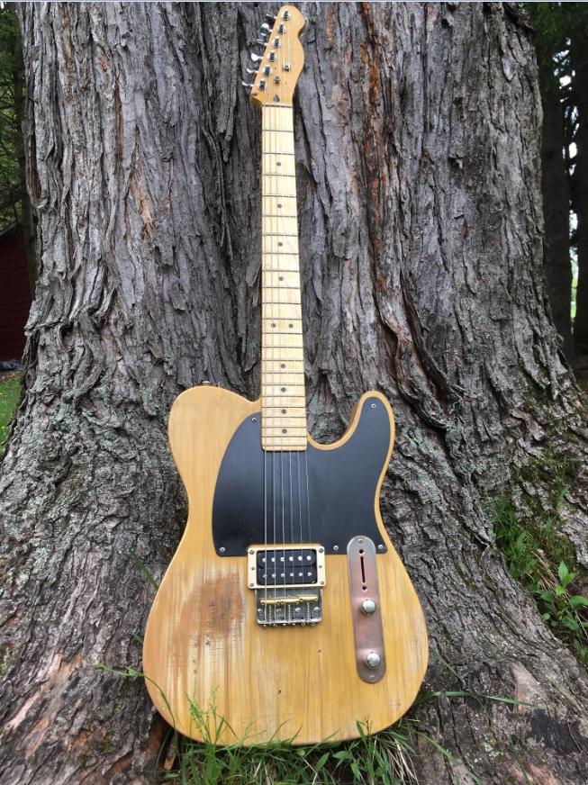 Custom-made guitar by Rock & Roll HOF Inductee Gary Moss